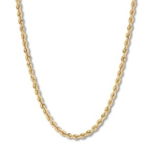 Gold Tone Diamond Cut Rope Chain